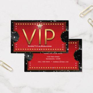 Black Red Gold & Silver Glam Custom VIP Ticket
