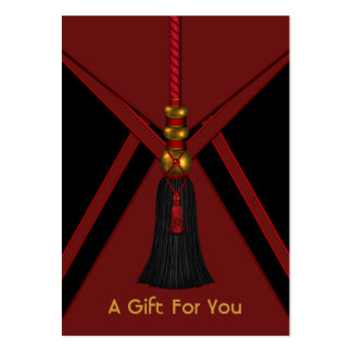 Black Red Gold Tassel Gift Certificate Gift Cards Large Business Cards (Pack Of 100)