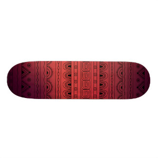 black&red gradient aztec pattern skateboard