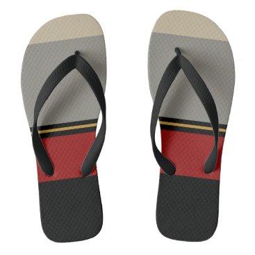 Beach Themed Black, red, gray, tan sandals