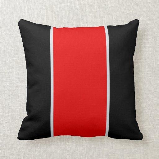 Throw Pillows Girly : Black Red Gray Throw Pillow Zazzle