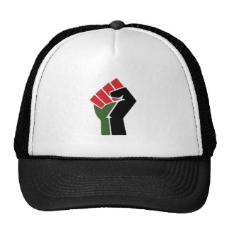 Black Red Green Fist Trucker Hat