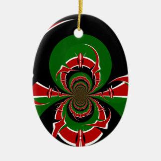 BLACK RED GREEN GRAPHICS HAKUNA MATATA CERAMIC ORNAMENT