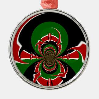 BLACK RED GREEN GRAPHICS HAKUNA MATATA METAL ORNAMENT
