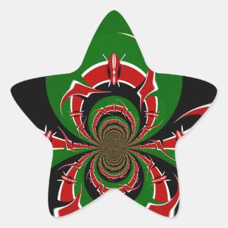 BLACK RED GREEN GRAPHICS HAKUNA MATATA STAR STICKER