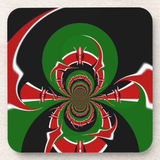 Black Red Green Lovely Shades Coaster