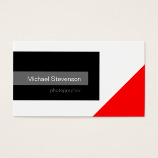 Black Red Grey White Photography Business Card