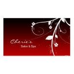 Black Red Hair / Nail Salon business card