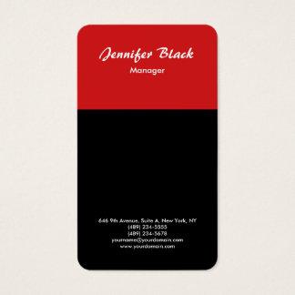 Black Red Handwriting Script Minimalist Modern Business Card