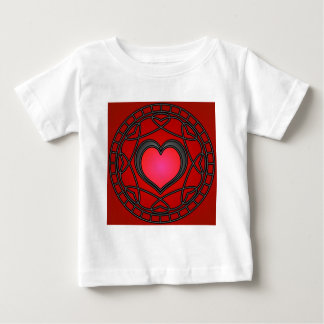 Black/Red Hearts & Swirls Infant Top