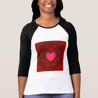 Black/Red Hearts & Swirls Ladies' top