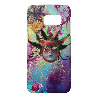 BLACK RED JESTER MASK Masquerade Party Green Blue Samsung Galaxy S7 Case