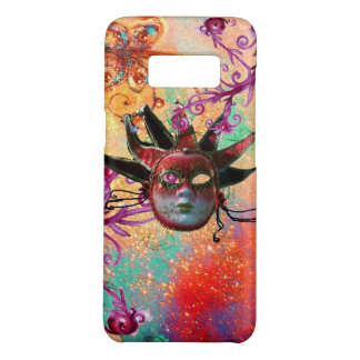BLACK RED JESTER MASK Masquerade Party Green Pink Case-Mate Samsung Galaxy S8 Case
