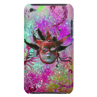 BLACK RED JESTER MASK Masquerade Party Purple Blue Barely There iPod Cover