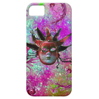 BLACK RED JESTER MASK Masquerade Party Purple Blue iPhone SE/5/5s Case