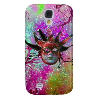 BLACK RED JESTER MASK Masquerade Party Purple Blue Samsung Galaxy S4 Cover