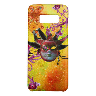 BLACK RED JESTER MASK Masquerade Party Yellow Case-Mate Samsung Galaxy S8 Case