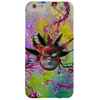 BLACK RED JESTER MASK Masquerade Purple Green Barely There iPhone 6 Plus Case