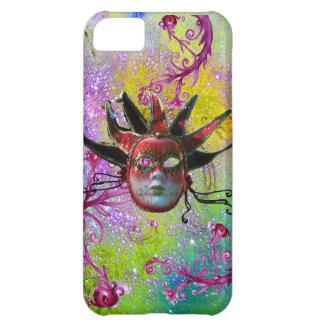 BLACK RED JESTER MASK Masquerade Purple Green iPhone 5C Case