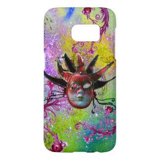 BLACK RED JESTER MASK Masquerade Purple Green Samsung Galaxy S7 Case