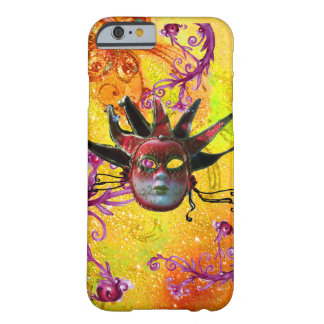BLACK RED JESTER MASK Masquerade Yellow  Purple Barely There iPhone 6 Case
