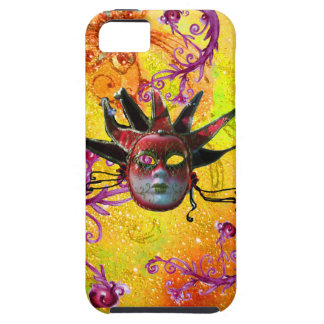 BLACK RED JESTER MASK Masquerade Yellow  Purple iPhone 5 Case