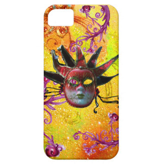 BLACK RED JESTER MASK Masquerade Yellow  Purple iPhone SE/5/5s Case