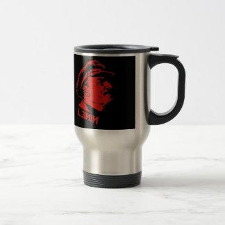 Black Red Lenin Communist Artwork Coffee Mug