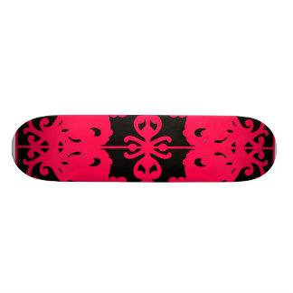 Black & Red Mirror Image Skateboard