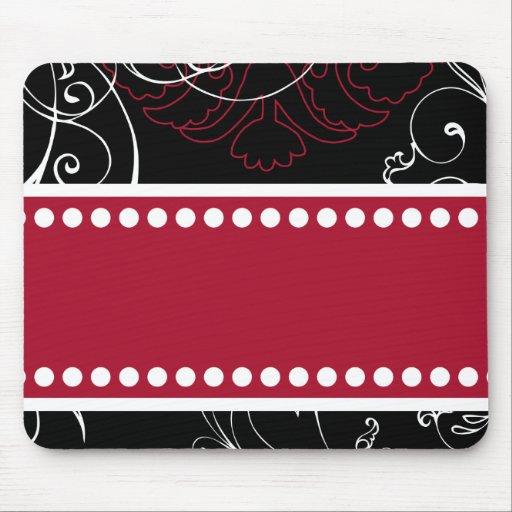 Black & Red Modern Customizable Mousepad