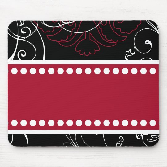 Black & Red Modern Customizable Mousepad