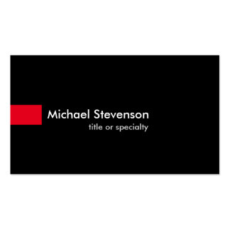 Black Red Modern Unique Consultant Business Card