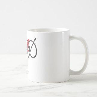 Black/red on white uplifting GOD design. Coffee Mug