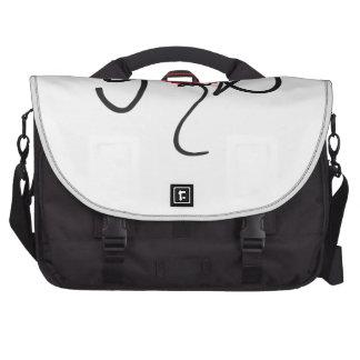 Black/red on white uplifting GOD design. Commuter Bag