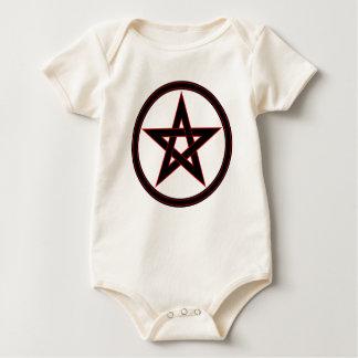 Black & Red Pentacle Baby Bodysuit