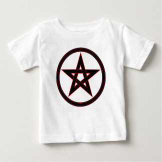 Black & Red Pentacle Baby T-Shirt