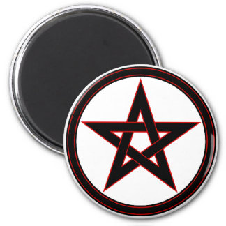 Black & red pentacle magnet