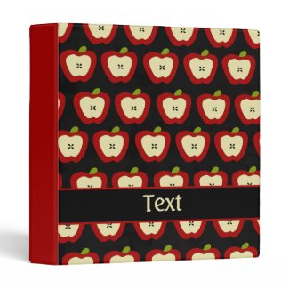 Black Red Personalized Teacher School Binder