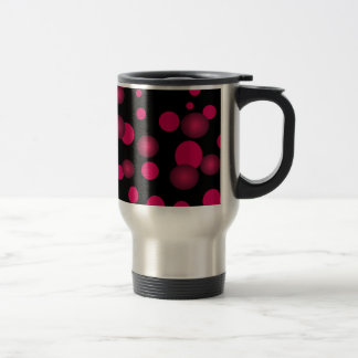 Black Red Pink Polka Dots 3D Commuter Cup Coffee Mugs