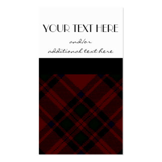 Black & Red Plaid Business Card