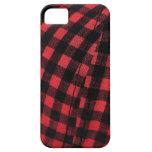 black red plaid iPhone 5 cases