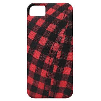 black red plaid iPhone SE/5/5s case