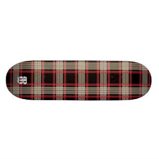Black & Red Plaid Skate Board