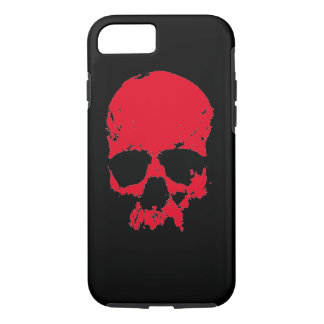 Black & Red Pop Art Skull iPhone 7 Case