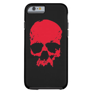 Black & Red Pop Art Skull Tough iPhone 6 Case