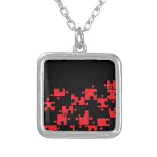 Black & Red Puzzle Necklace - by Fern Savannah