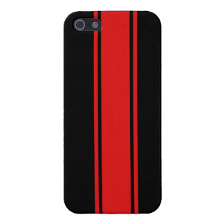 Black & Red Racing Stripe iPhone 5 Case