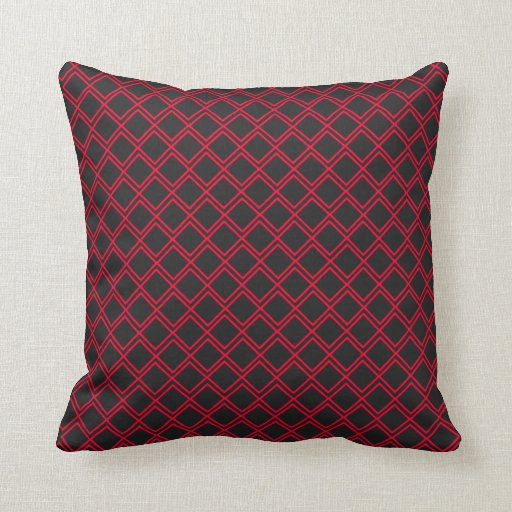 black red rhombus melts throw pillows zazzle. Black Bedroom Furniture Sets. Home Design Ideas