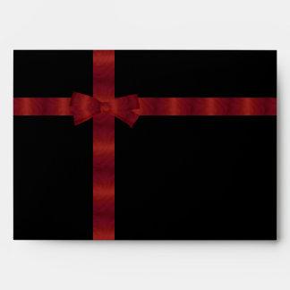 Black & Red Ribbon Envelopes