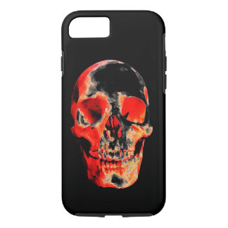 Black Red Skull Heavy Metal Rock Fantasy Art iPhone 7 Case